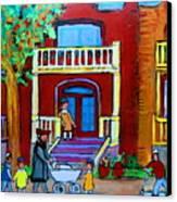 Durocher Street Montreal Canvas Print