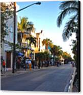 Duval Street In Key West Canvas Print by Susanne Van Hulst