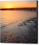 Duxbury Beach Powder Point Bridge Sunset Canvas Print by John Burk