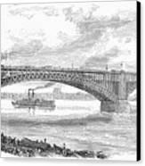 Eads Bridge, St Louis Canvas Print by Granger