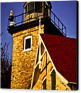 Eagle Bluff Lighthouse Of Door County Canvas Print by Mark David Zahn