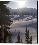 Early Morning Skiing Canvas Print by Taylor S. Kennedy