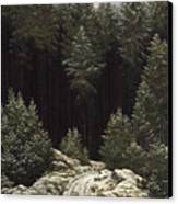 Early Snow Canvas Print by Caspar David Friedrich