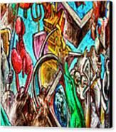 East Side Gallery Canvas Print by Joan Carroll