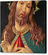 Ecce Homo Or The Redeemer Canvas Print by Botticelli
