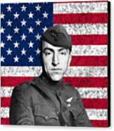 Eddie Rickenbacker And The American Flag Canvas Print