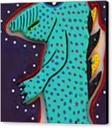 Edward The Walking Ardvark Canvas Print by Robert Margetts