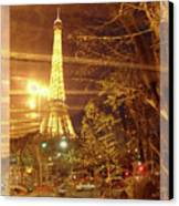 Eiffel Tower By Bus Tour Greeting Card Poster Canvas Print by Felipe Adan Lerma