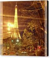 Eiffel Tower By Bus Tour Greeting Card Poster Canvas Print by Felipe Adan Lerma