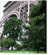 Eiffel Tower Garden Canvas Print
