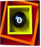 Eight Ball In Box Canvas Print by Garry Gay