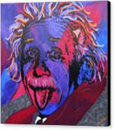 Einstein-professor Canvas Print by Bill Manson