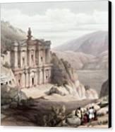 El Deir Petra 1839 Canvas Print by Munir Alawi
