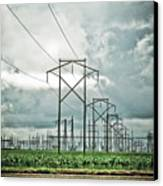 Electric Lines And Weather Canvas Print