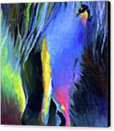 electric Stallion horse painting Canvas Print