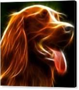 Electrifying Dog Portrait Canvas Print by Pamela Johnson