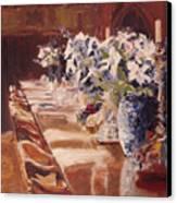 Elegant Dining At Hearst Castle Canvas Print
