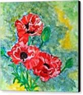 Elegant Poppies Canvas Print