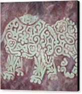 Elephant - Animal Series Canvas Print by Jennifer Kelly