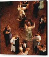 Elevated View Of Ballroom Dancers Canvas Print