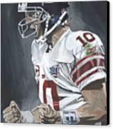 Eli Manning Super Bowl Mvp Canvas Print by David Courson