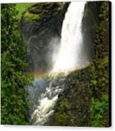 Elk Creek Falls Rainbow Canvas Print