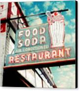Elliston Place Soda Shoppe - Square Crop Canvas Print by Amy Tyler