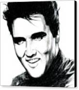 Elvis Canvas Print by Lin Petershagen