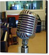 Elvis Presley Microphone Canvas Print by Mark Czerniec