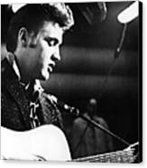 Elvis Presley, Recording In The Studio Canvas Print by Everett
