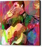 Elvis Rockabilly  Canvas Print by David Lloyd Glover