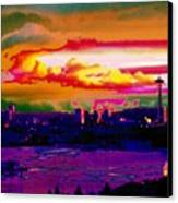 Emerald City Sunset Canvas Print