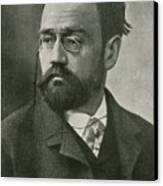 Emile Zola, French Author Canvas Print by Photo Researchers