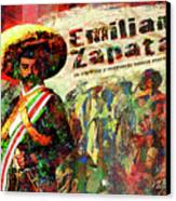 Emiliano Zapata Inmortal Canvas Print by Dean Gleisberg