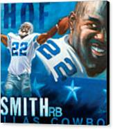 Emmit Smith Hof Canvas Print