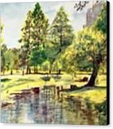 En El Parque A Mediodia Canvas Print