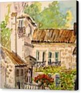 En Plein Air At Moulin De La Roque France Canvas Print