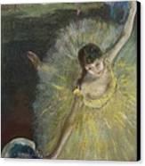 End Of An Arabesque Canvas Print by Edgar Degas