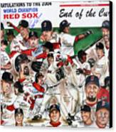 End Of The Curse Red Sox Newspaper Poster Canvas Print
