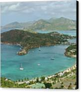 English Harbour Antigua Canvas Print by John Edwards