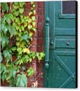 Enter Vine Door Canvas Print