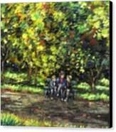 Eoin Miraim And Cian In Botanic Gardens Canvas Print