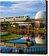 Epcot - Disney World Canvas Print by Michael Tesar