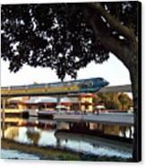 Epcot Tron Monorail Canvas Print by Carol  Bradley