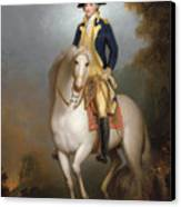 Equestrian Portrait Of George Washington Canvas Print by Rembrandt Peale