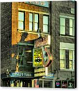 Ernest Tubbs Record Store Canvas Print by Steven Ainsworth