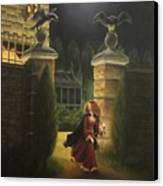 Escape From Raven Manor Canvas Print by Karen Coombes