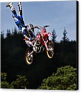 Escaping Motorbike Canvas Print