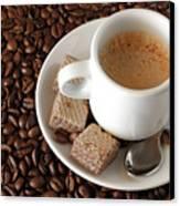 Espresso Coffee Canvas Print by Carlos Caetano