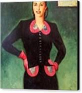 Estela Mora De Albarran Canvas Print